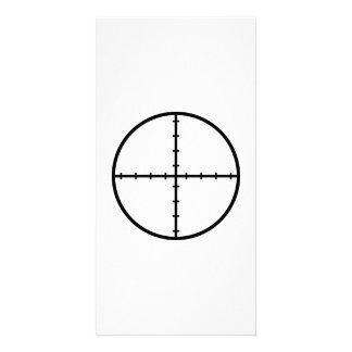 Crosshairs weapon customized photo card