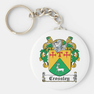 Crossley Family Crest Basic Round Button Key Ring