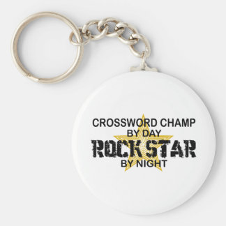 Crossword Champ Rock Star by Night Basic Round Button Key Ring