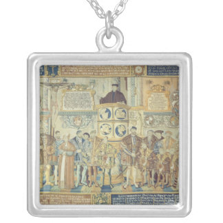 Croy Tapestry, 1554 Square Pendant Necklace