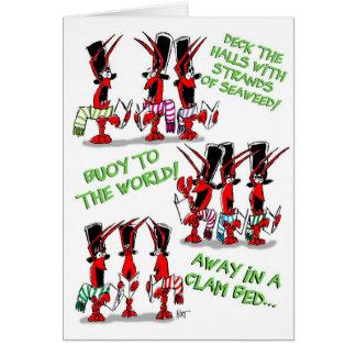 Crustacean Carols! Greeting Card