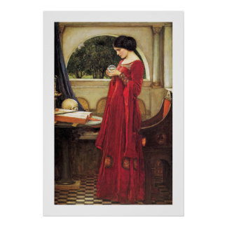 Crystal Ball by John Waterhouse - Vintage Painting Poster