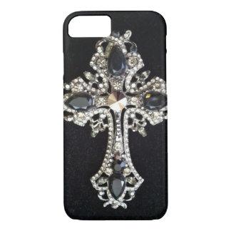 CRYSTAL CROSS BLACK VELVET iPhone 7 CASE