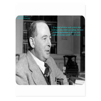 """CS Lewis & """"Other Worlds"""" Quote Postcard"""