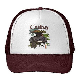 Cuba and Creole Woman On Shirt Cap