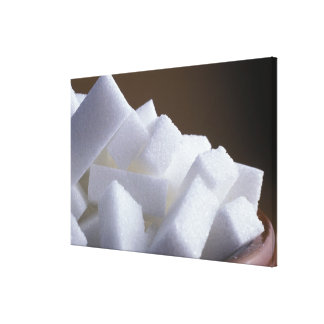 Cubes of white sugar For use in USA only.) Gallery Wrapped Canvas