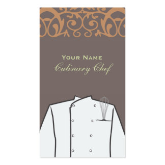 Culinary Personal Chef Catering Restaurant Pack Of Standard Business Cards
