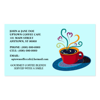 CUP OF JAVA COFFEE SHOP CAFE STORE BUSINESS CARDS