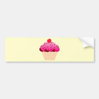 cupcake-310968  cupcake cherry pink icing dessert bumper sticker