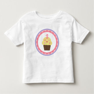 Cupcake birthday t-shirt 2 years old
