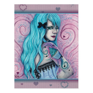 Cupcake Bubblegoth Pink Tattoos Turquoise Postcard