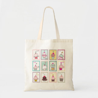 Cupcake Collage Sweet Desserts Budget Tote Bag