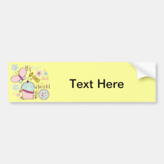 Cupcake Cupcakes Food Desserts Sweet Snack Lovely Bumper Sticker