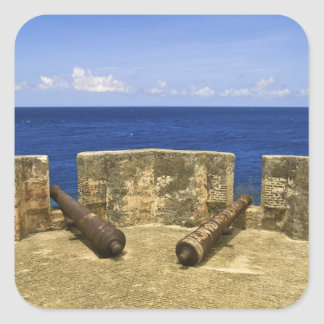 Curacao. Fort Beekenburg Caracas Bay. Square Sticker