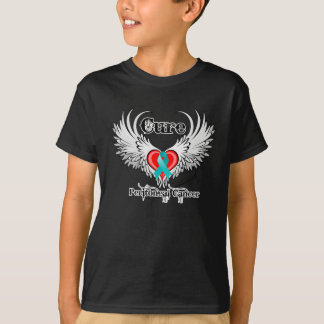 Cure Peritoneal Cancer Heart Tattoo Wings Shirt