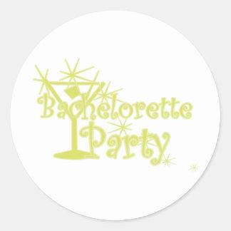 CurlMartiBachettePyellow Round Sticker