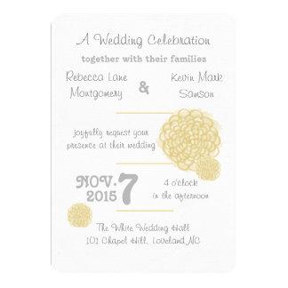 Custard Hydrangea Wedding Invitations