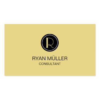 Custard Professional Chic and Monogram Pack Of Standard Business Cards