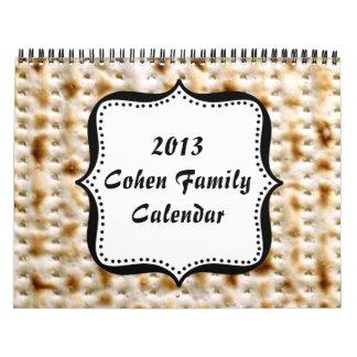 CUSTOM 2013 Jewish Matzo Wall Calendar