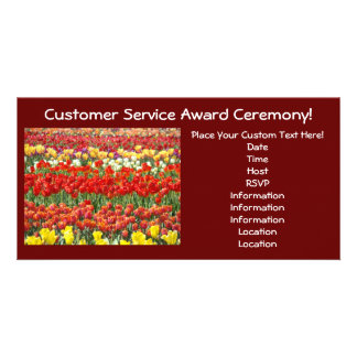Custom Award Ceremony Invitation Cards Tulips Photo Card