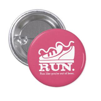Custom color funny sneaker running beer 3 cm round badge