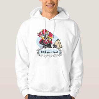 Custom Hockey Player Hooded Sweatshirt