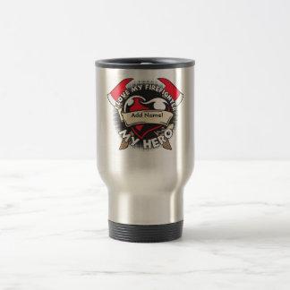 Custom Love My Firefighter Stainless Steel Travel Mug