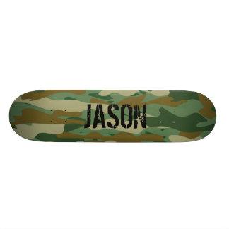 Custom name armo camo camouflage skateboard deck
