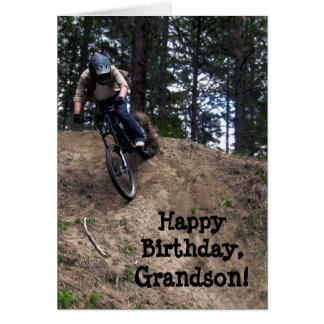 Custom Name - Birthday for Boy - Mountain Bike Greeting Card