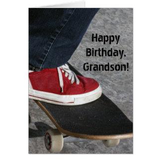 Custom Name - Birthday for Boy - Skateboarder Greeting Card