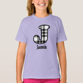 Custom Name Tee for Names Starting with Letter J
