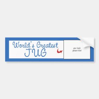 Custom Photo! Worlds Greatest Jug Bumper Sticker