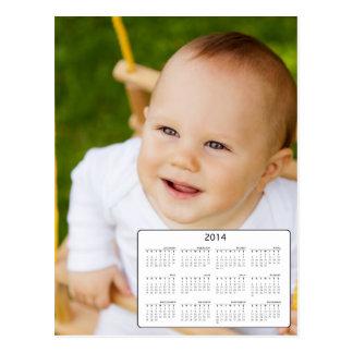 Custom Postacard Size Photo 2014 Calendar Postcard