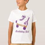 Custom Purple Roller Skate Birthday Girl Tees