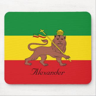 Custom Rastafarian Flag of Ethiopia Lion of Judah Mouse Pad
