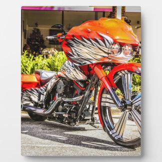 Custom red hog Motorcycle Photo Plaque