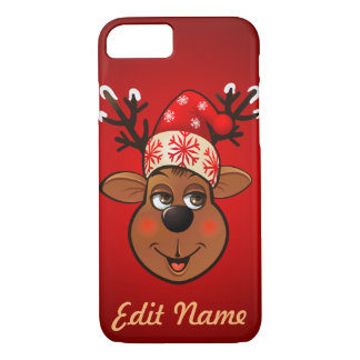Custom Santa Claus's Reindeer iPhone 7 Case