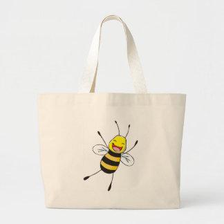 Custom Shirts : Happy Bee Shirts Jumbo Tote Bag