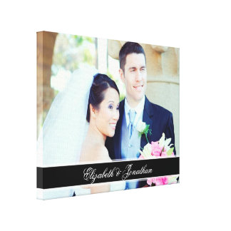 Custom Wedding Photo Personalized Canvas Art Canvas Print