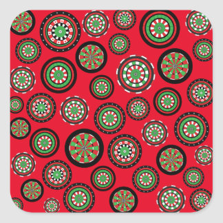 Customizable Christmas Dartboards Square Sticker