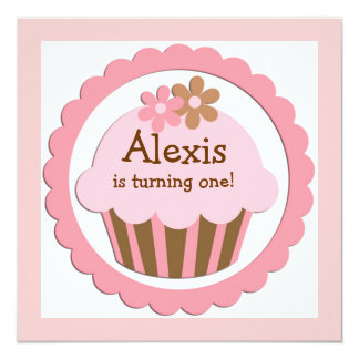 Customizable Cupcake Birthday Invitation