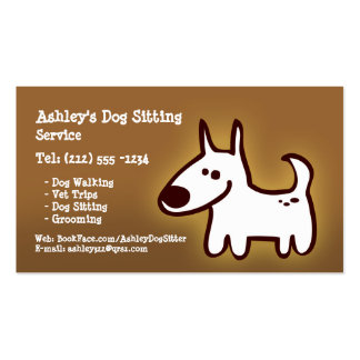 CUSTOMIZABLE dog sitting, grooming, walking Pack Of Standard Business Cards