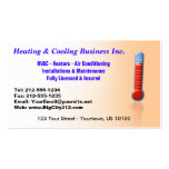 CUSTOMIZABLE Heating & Cooling Thermo Pack Of Standard Business Cards