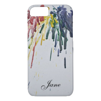 Customizable Melted Crayons iPhone 7 Case