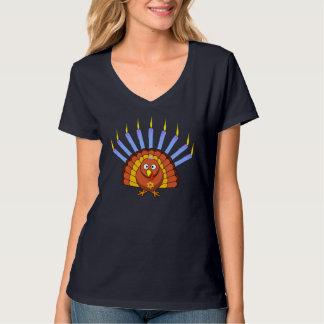 Customizable Menurkey Thanksgivukkah T-shirt
