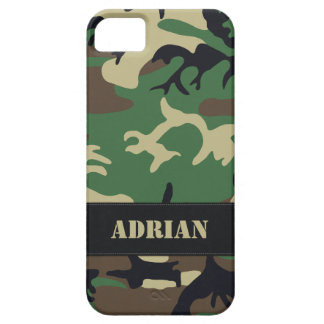 Customizable Military Camo Barely There iPhone 5 Case