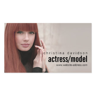Customizable Photo Card for Actors, Models Pack Of Standard Business Cards