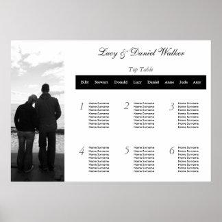 Customizable Photograph Wedding Seating Table Plan Poster