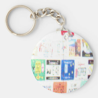 Customizable Road Trip Basic Round Button Key Ring