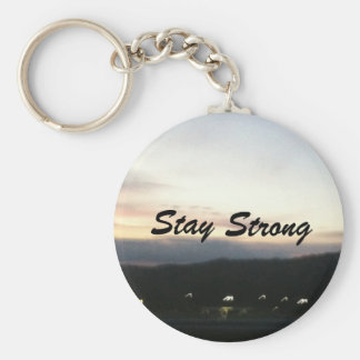 Customizable Stay Strong Keychain